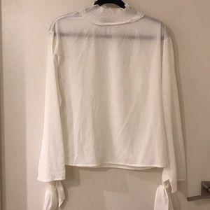 Sheer white top